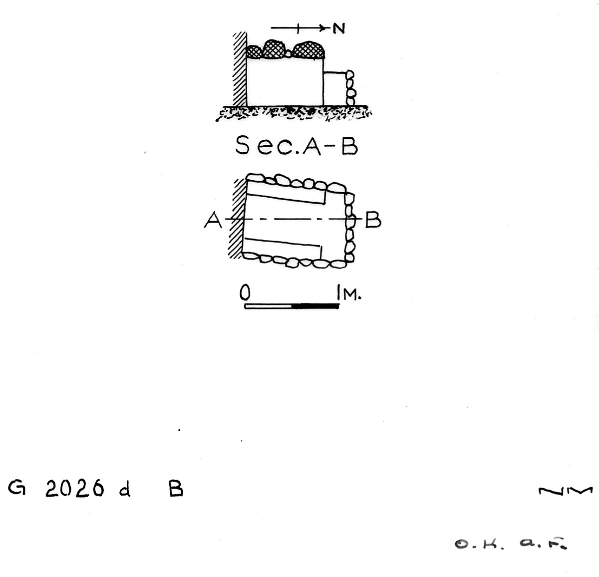 Maps and plans: G 2026d, Shaft B