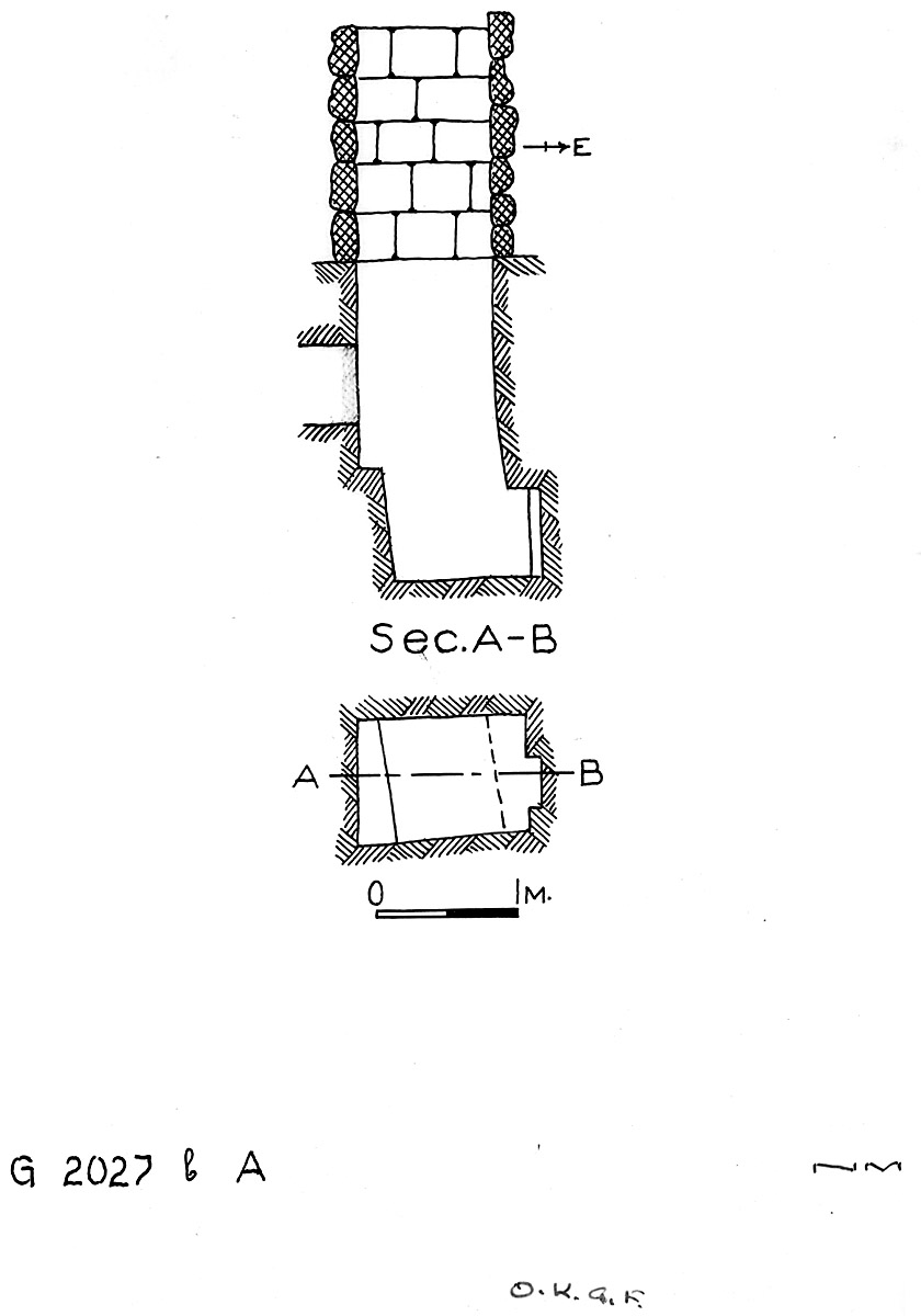 Maps and plans: G 2027b, Shaft A