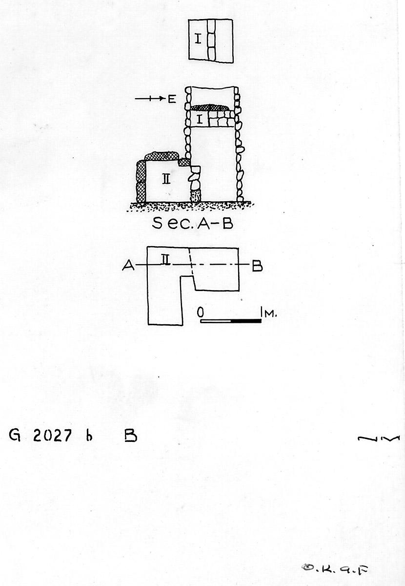 Maps and plans: G 2027b, Shaft B