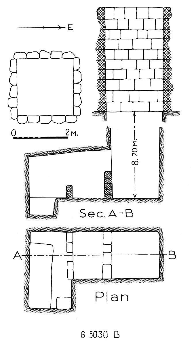 Maps and plans: G 5030, Shaft B