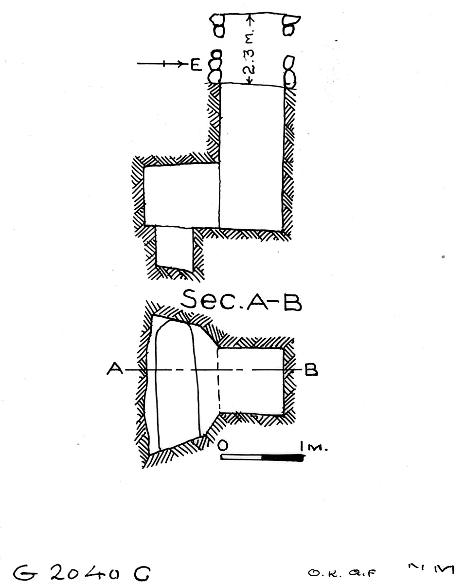 Maps and plans: G 2040, Shaft C