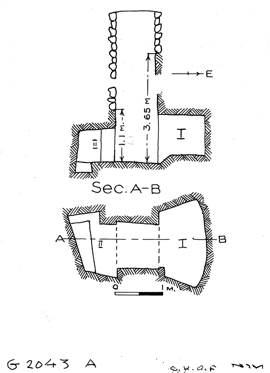Maps and plans: G 2043, Shaft A