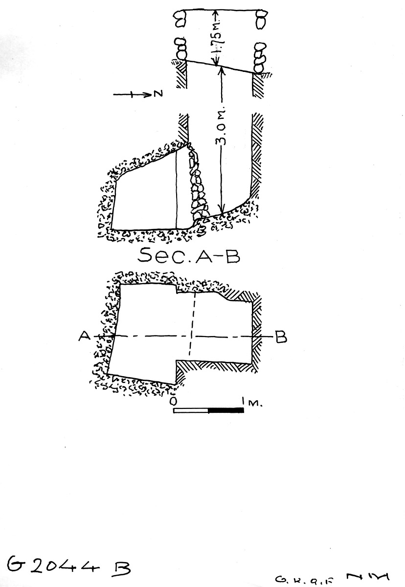 Maps and plans: G 2044, Shaft B