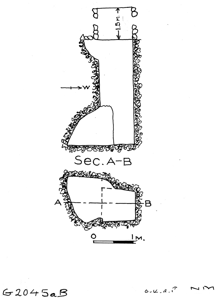 Maps and plans: G 2045a, Shaft B