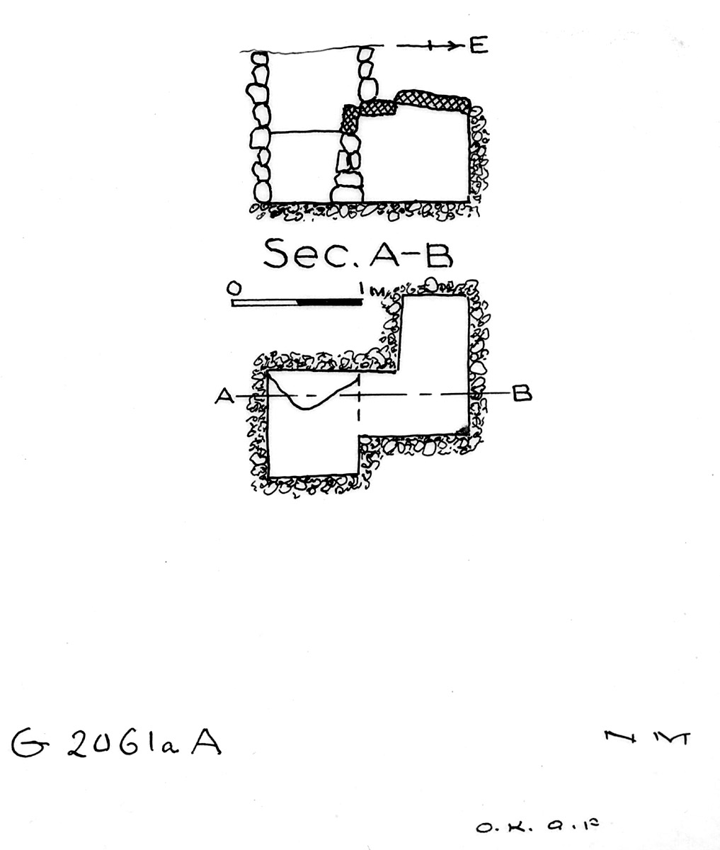 Maps and plans: G 2061a, Shaft A