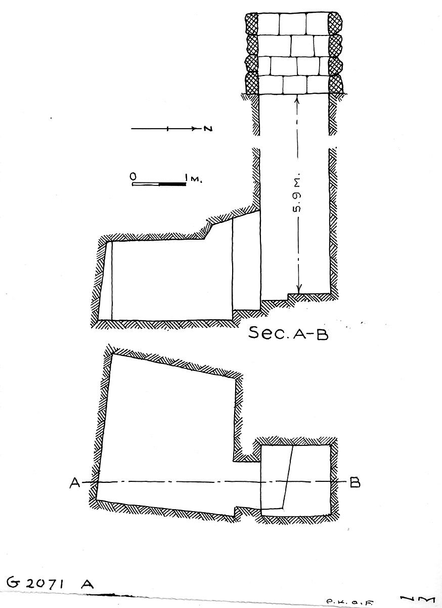 Maps and plans: G 2071, Shaft A
