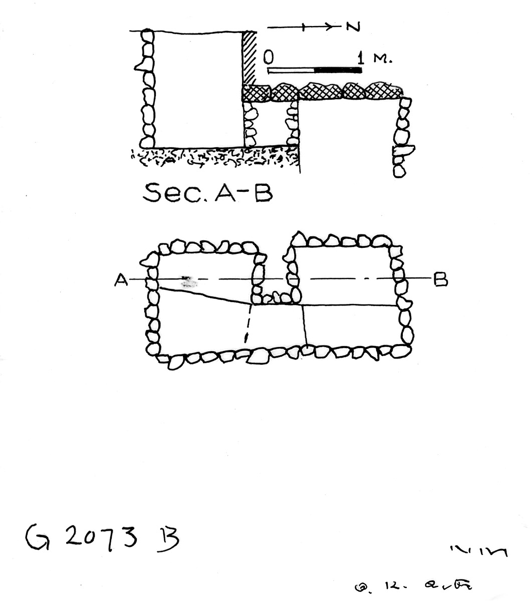 Maps and plans: G 2073, Shaft B