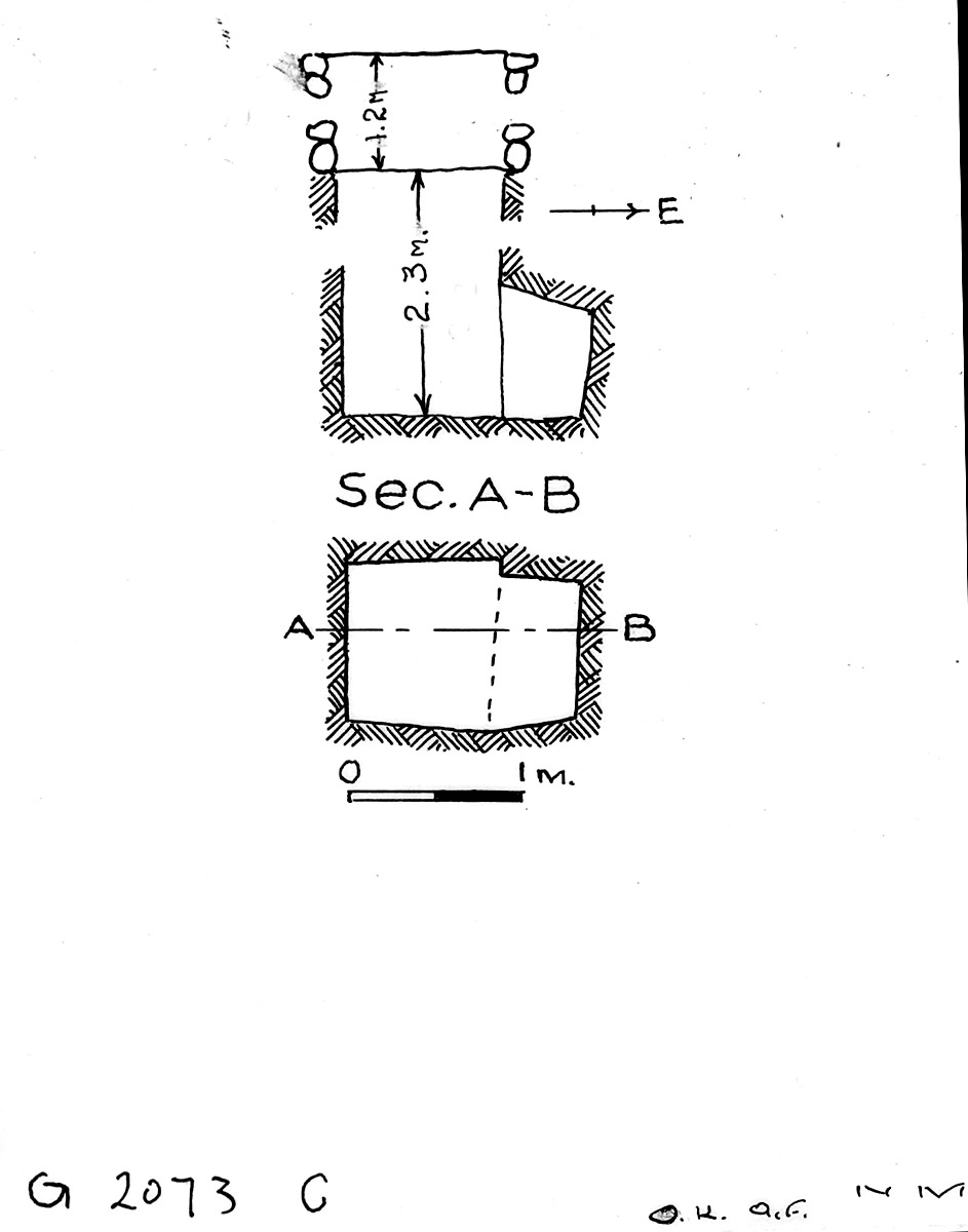 Maps and plans: G 2073, Shaft C