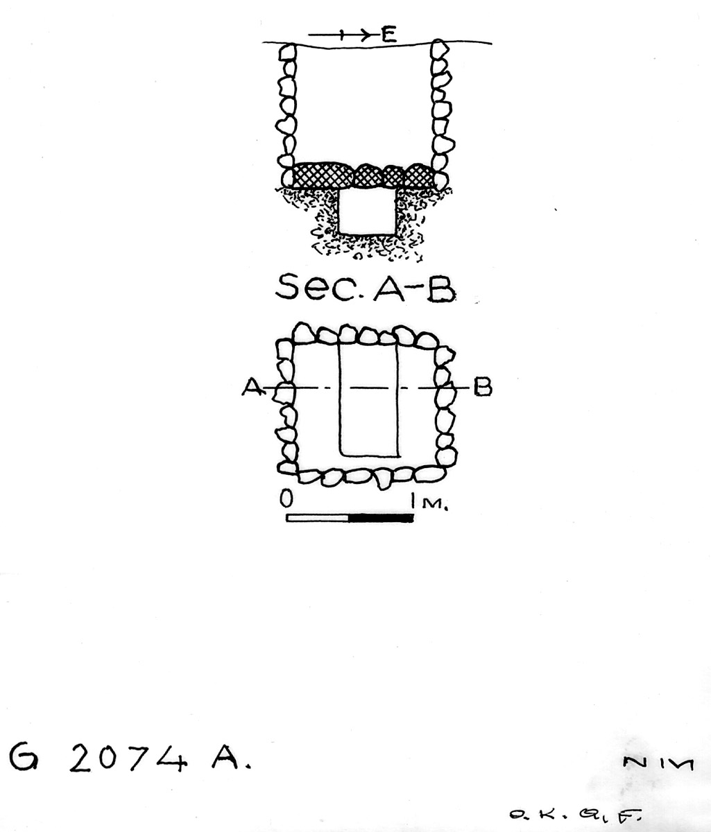Maps and plans: G 2074, Shaft A