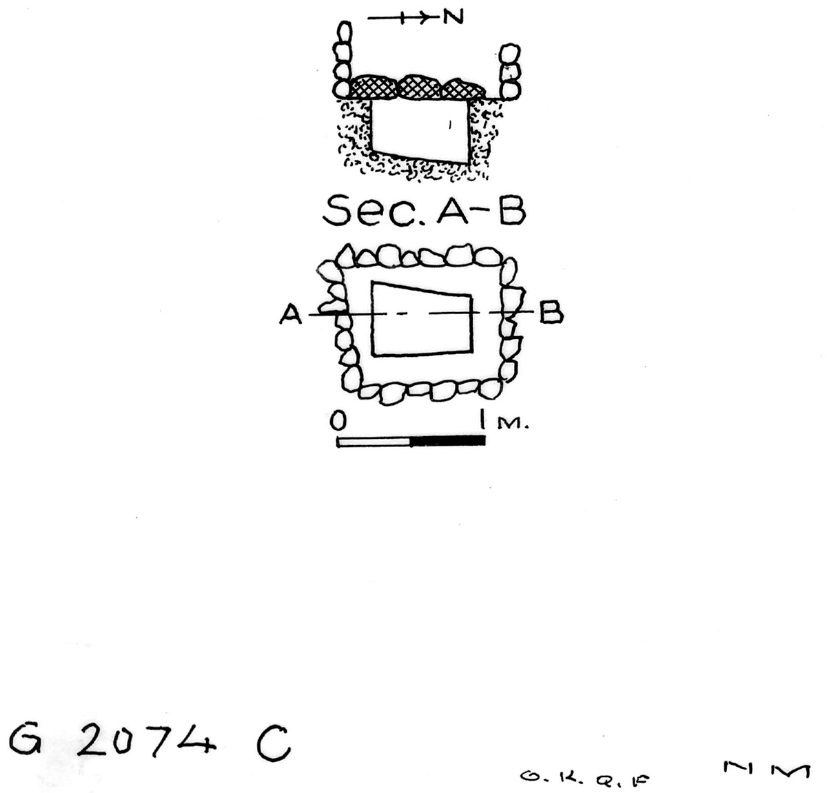 Maps and plans: G 2074, Shaft C