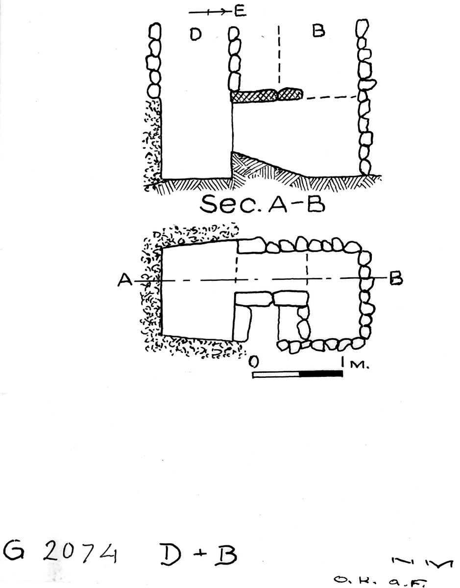 Maps and plans: G 2074, Shaft B and D