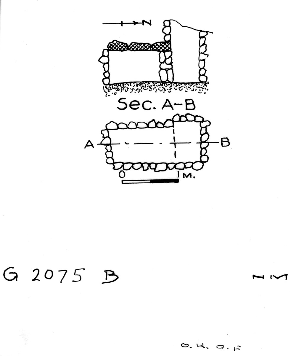 Maps and plans: G 2075, Shaft B
