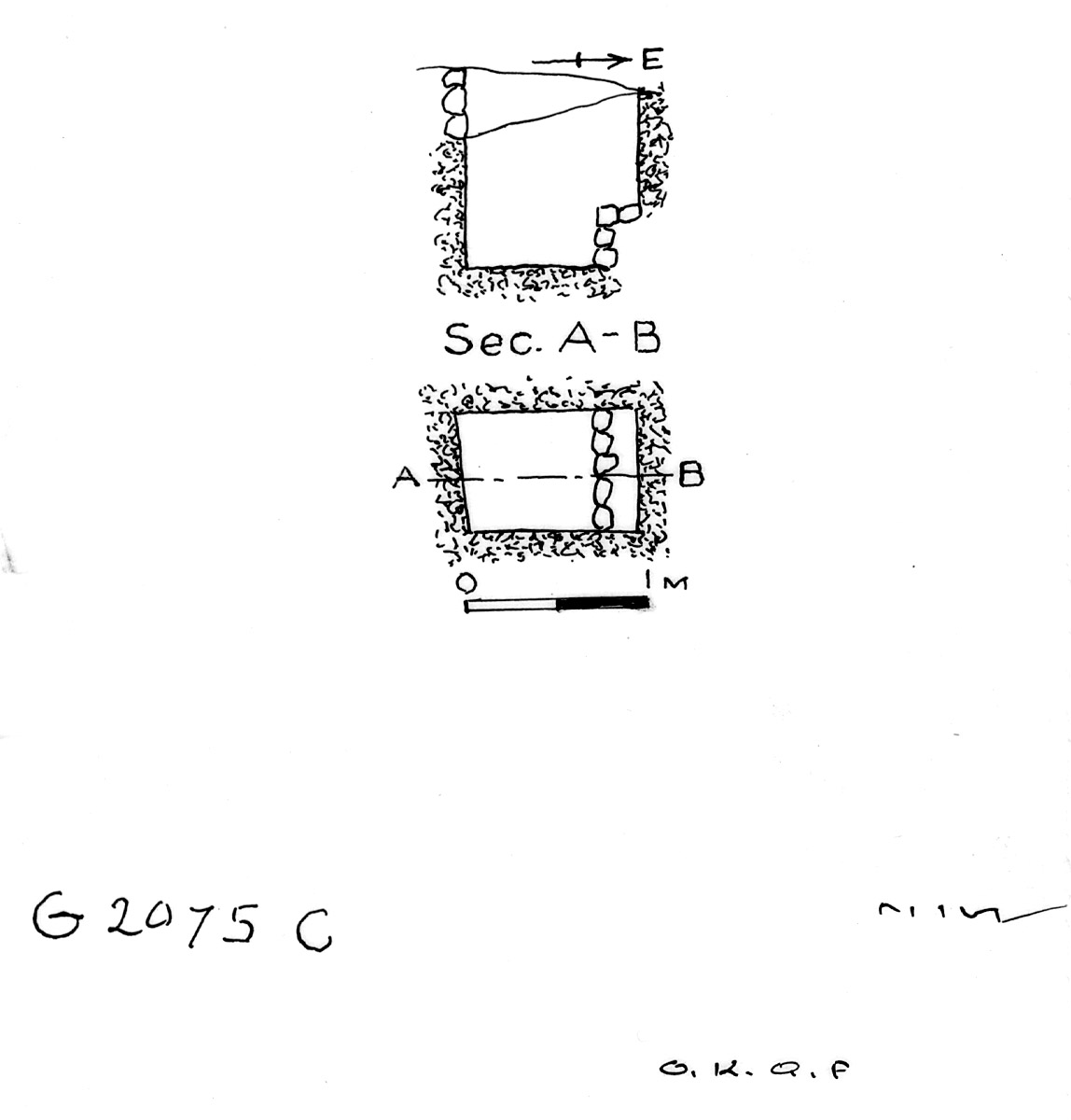 Maps and plans: G 2075, Shaft C
