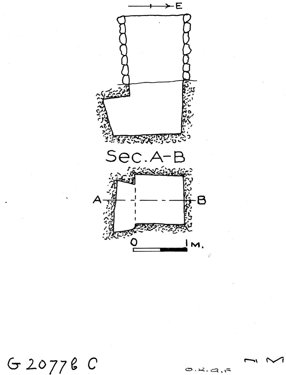 Maps and plans: G 2077b, Shaft C