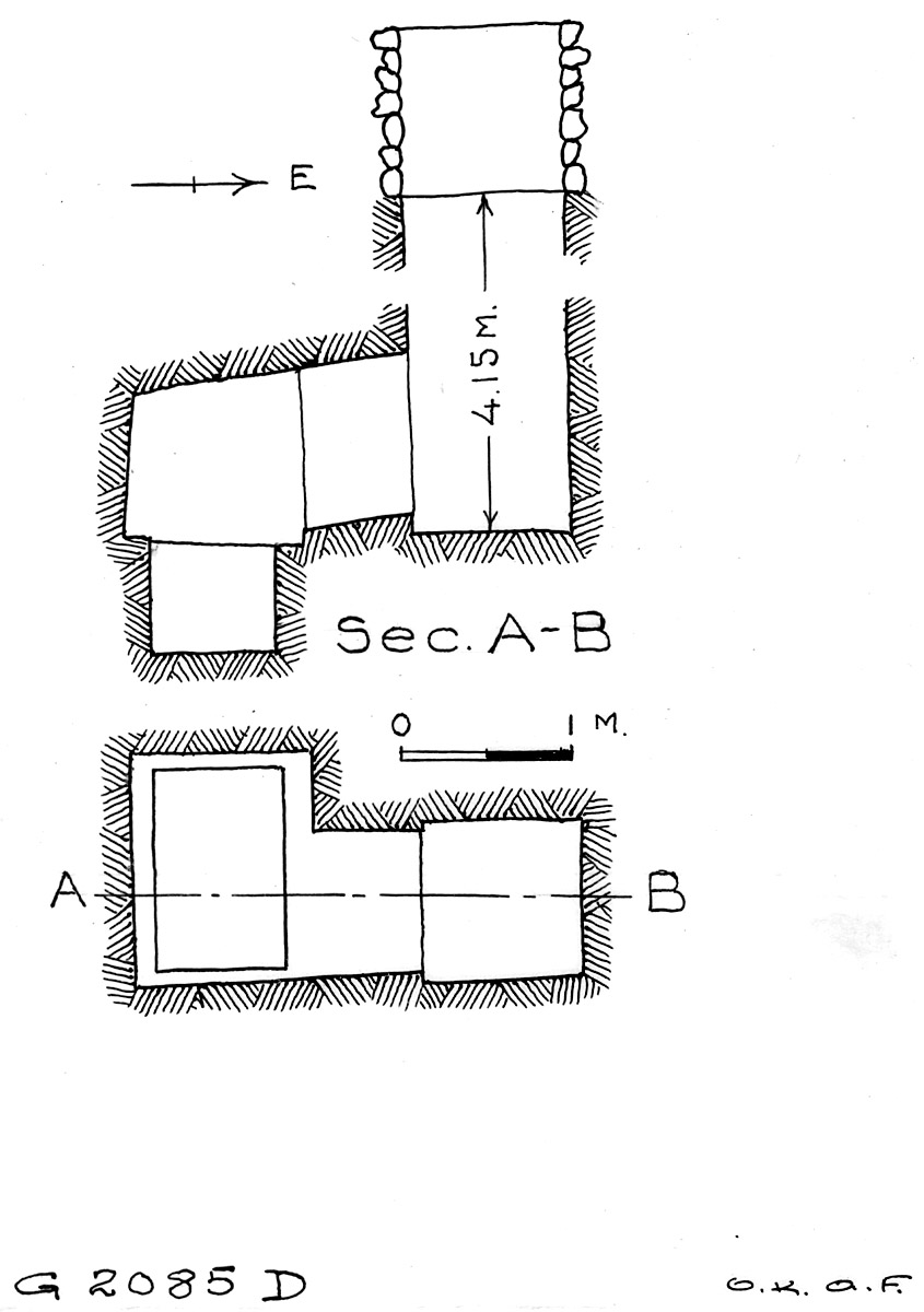 Maps and plans: G 2085, Shaft D