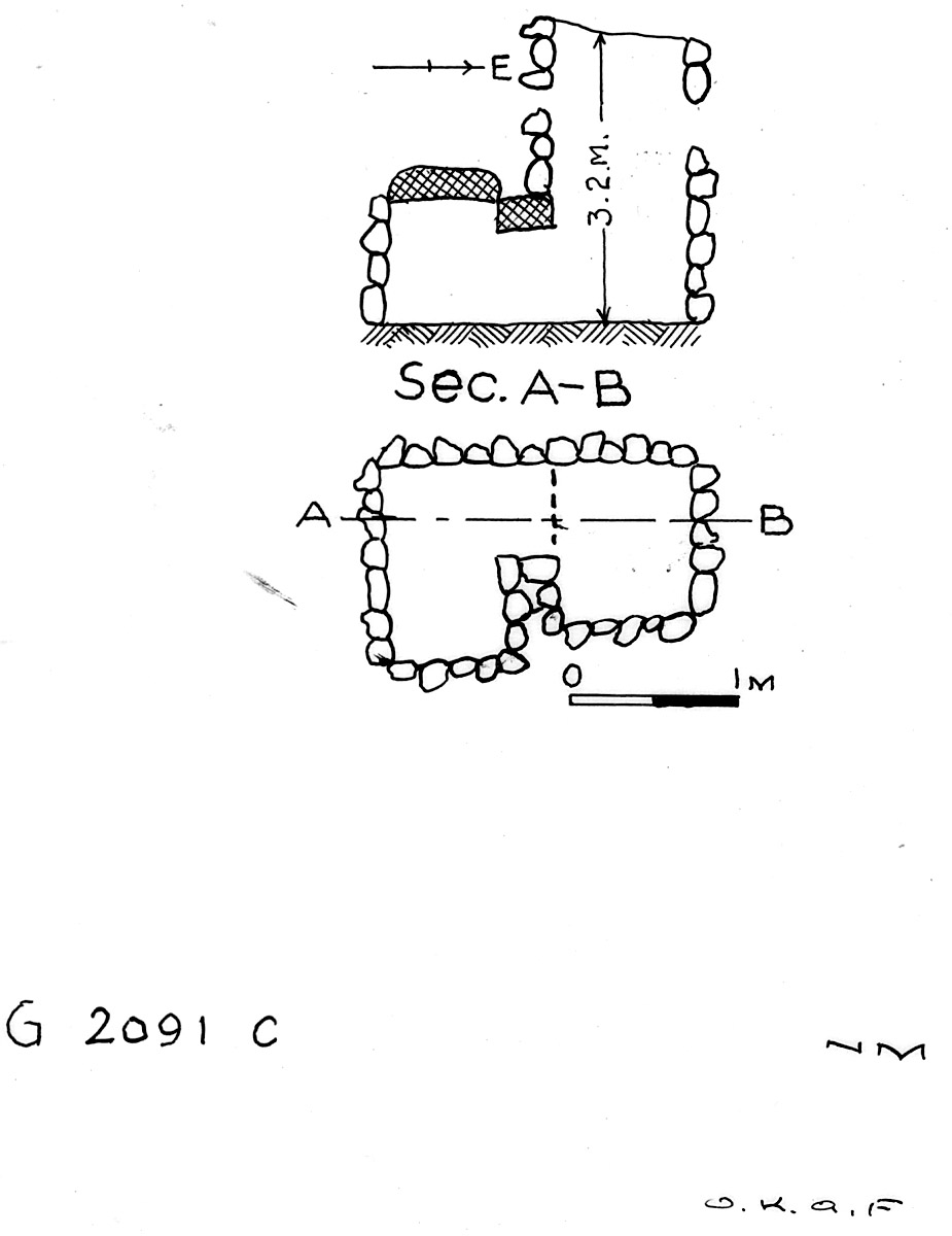Maps and plans: G 2091, Shaft C