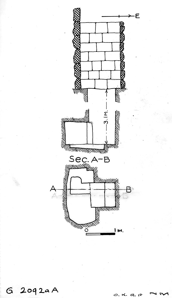Maps and plans: G 2092a, shaft A