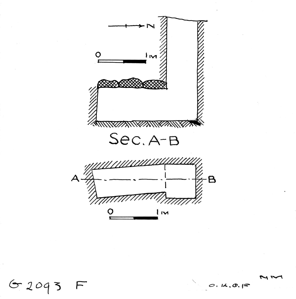 Maps and plans: G 2393, Shaft F