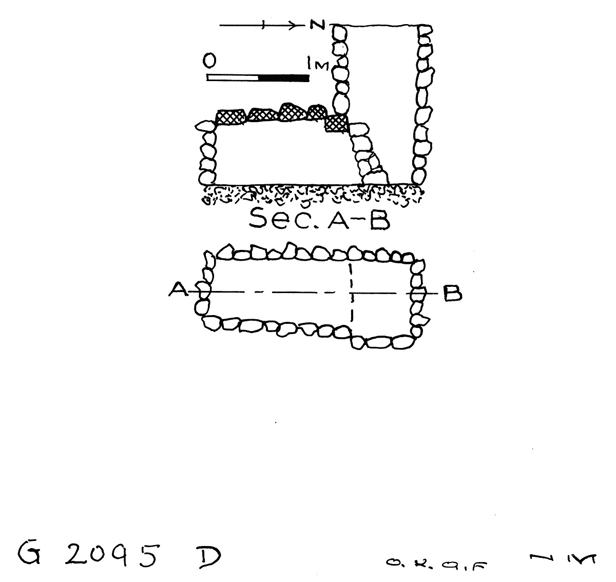 Maps and plans: G 2095, Shaft D