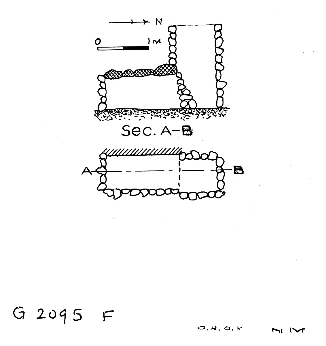 Maps and plans: G 2095, Shaft F