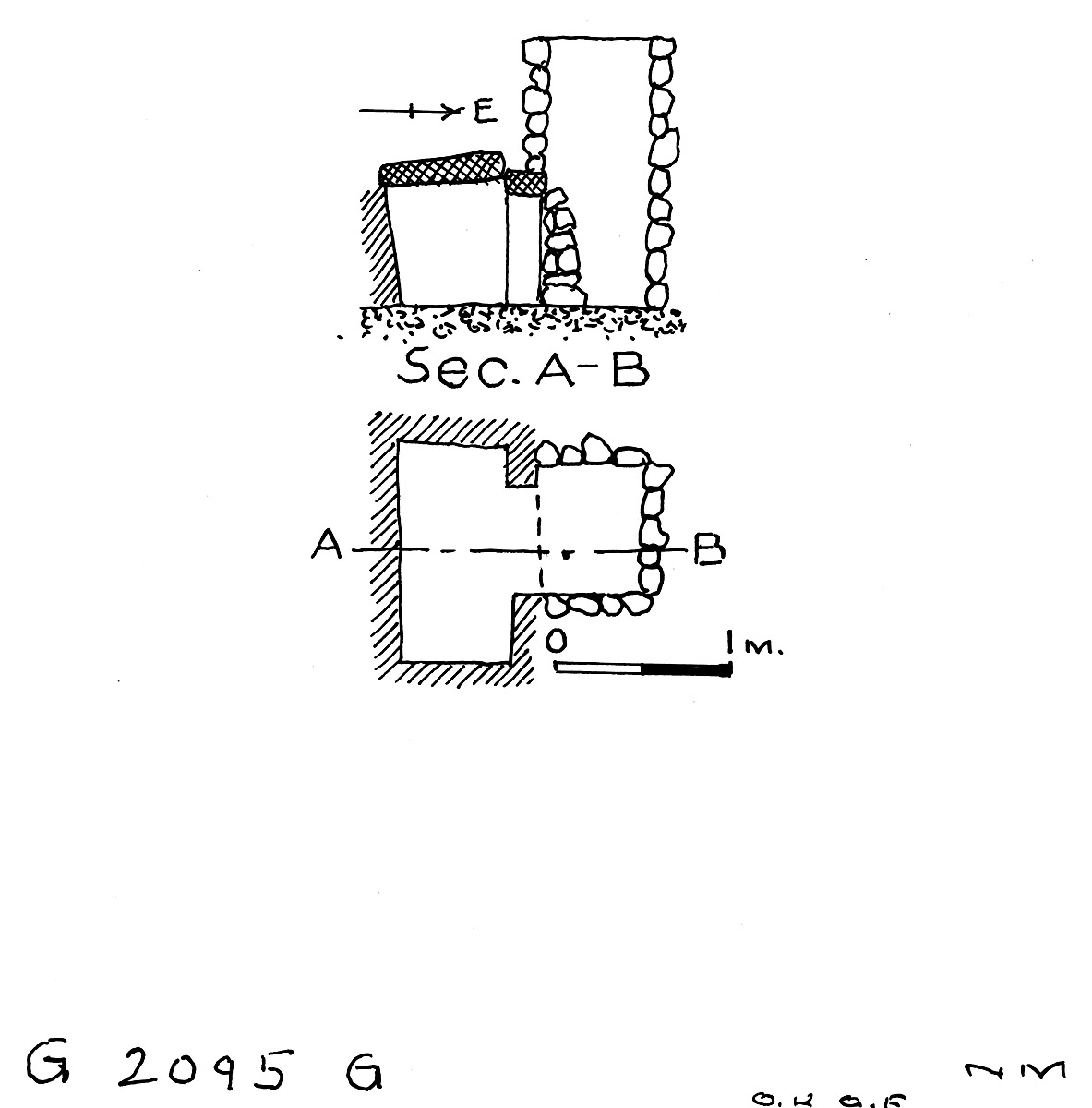Maps and plans: G 2095, Shaft G