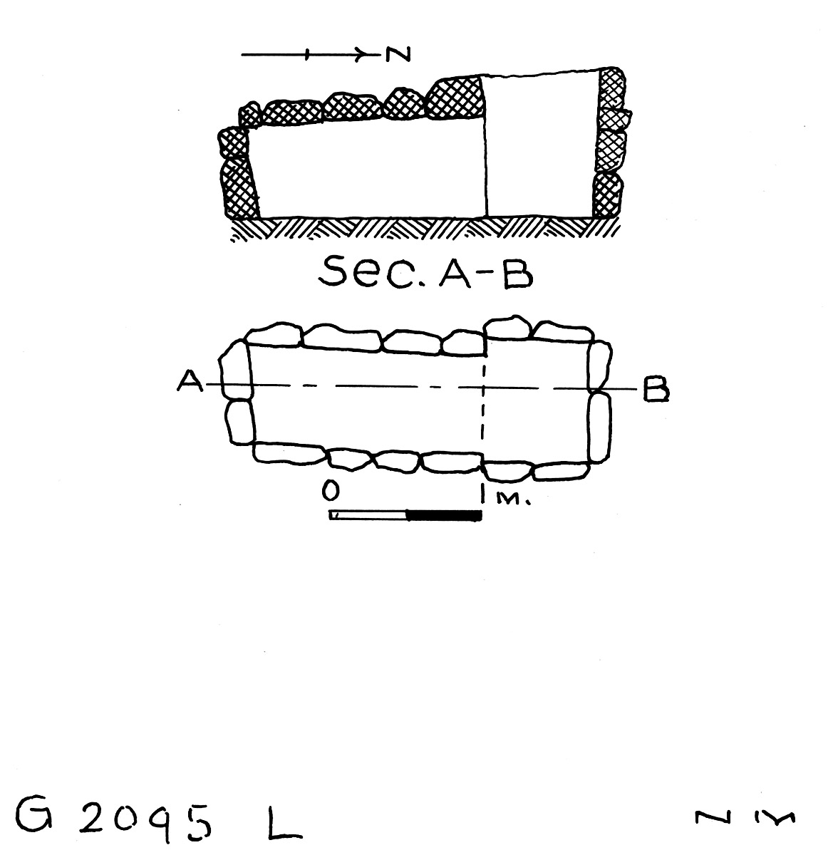 Maps and plans: G 2095, Shaft L
