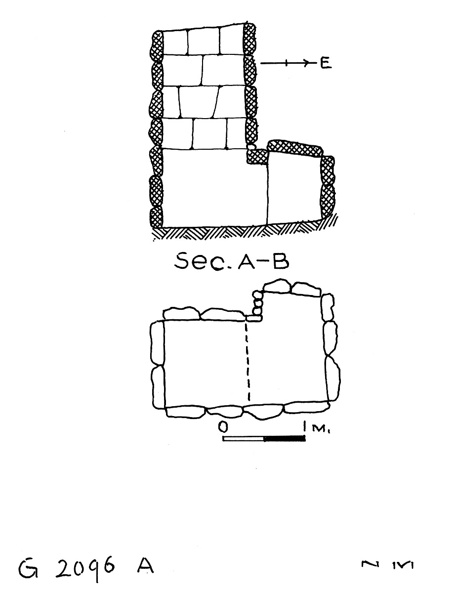 Maps and plans: G 2096, Shaft A