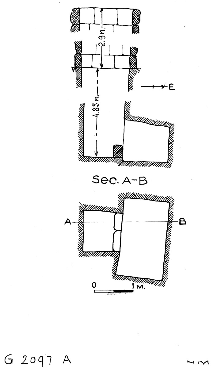 Maps and plans: G 2097, Shaft A