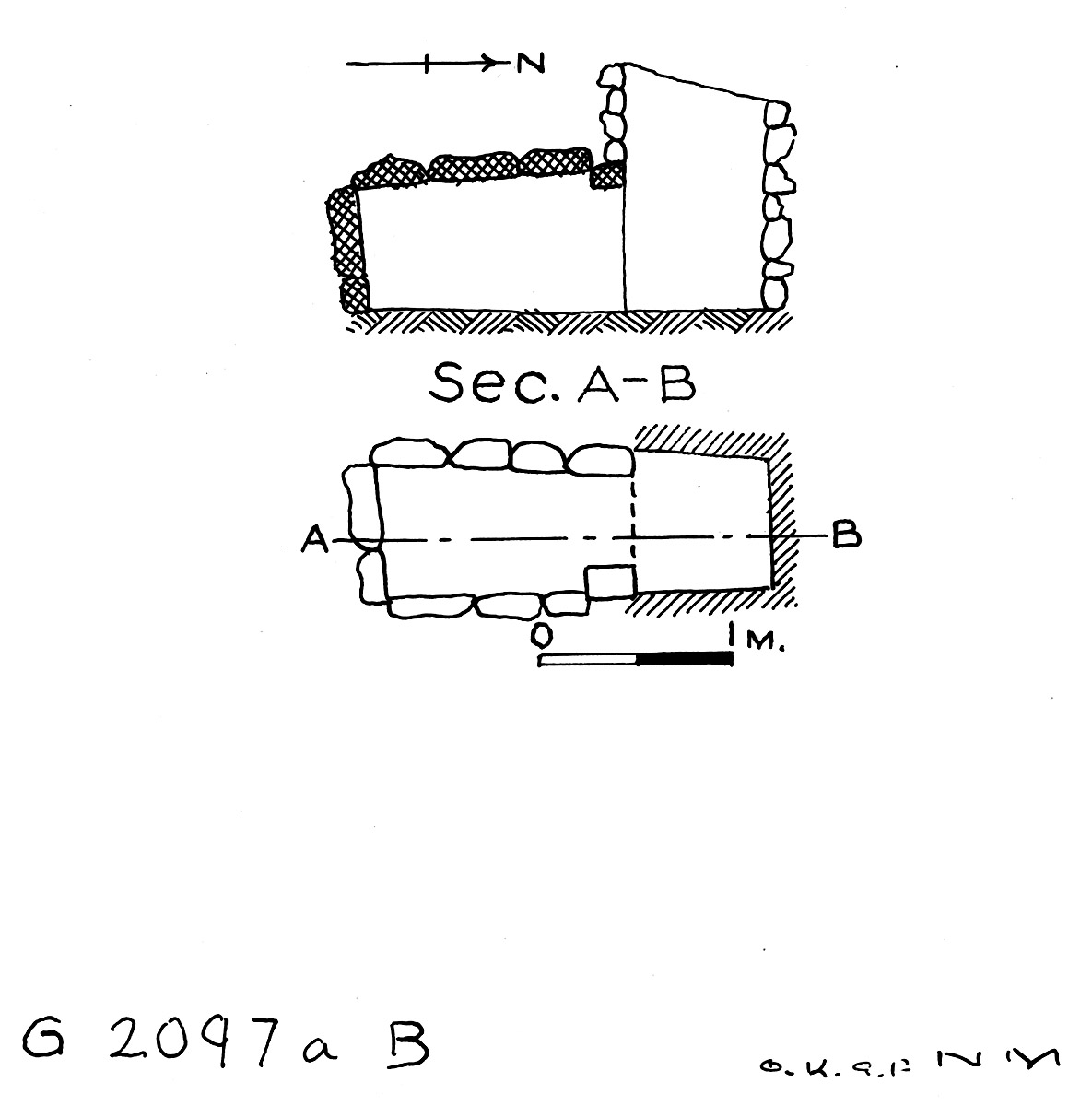 Maps and plans: G 2097a, Shaft B