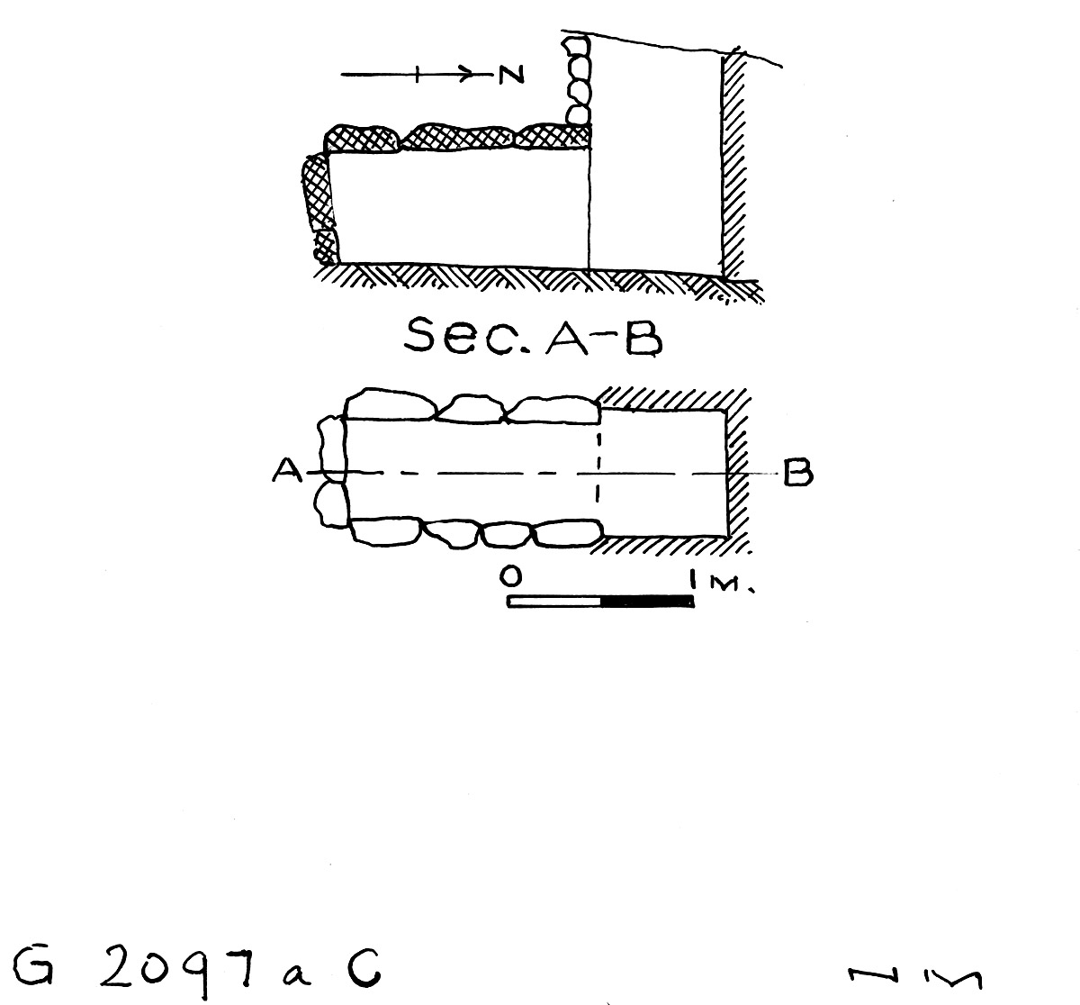 Maps and plans: G 2097a, Shaft C