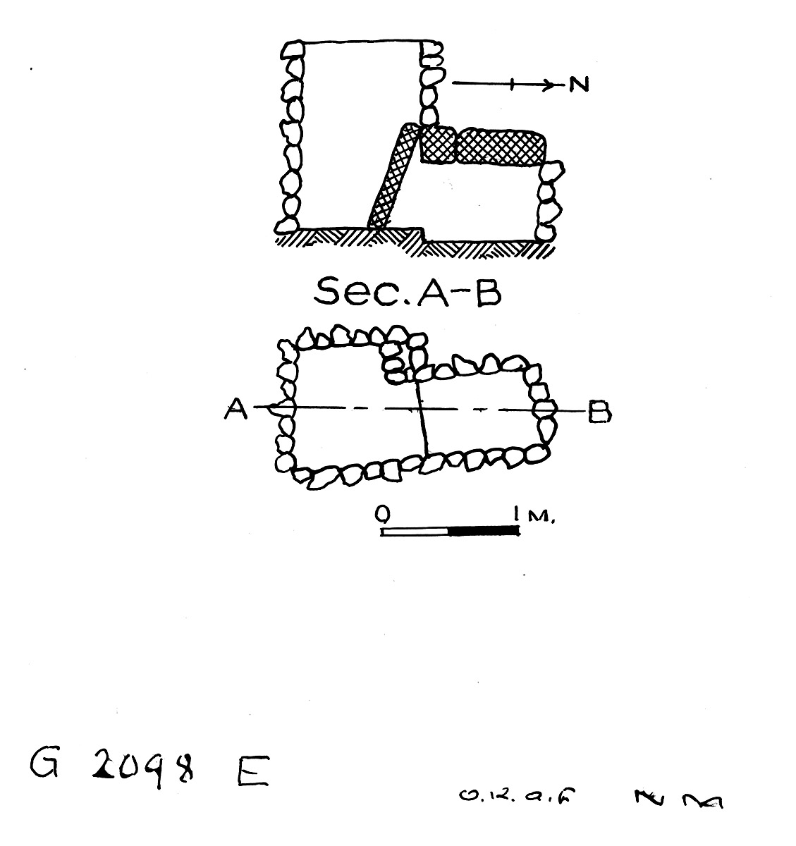 Maps and plans: G 2098, Shaft E