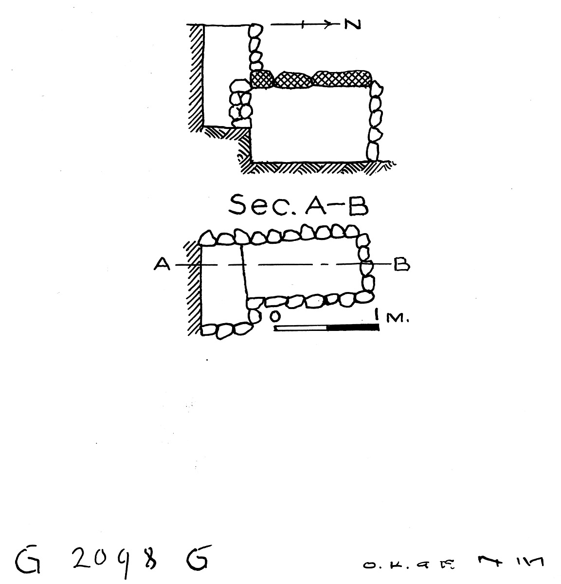 Maps and plans: G 2098, Shaft G