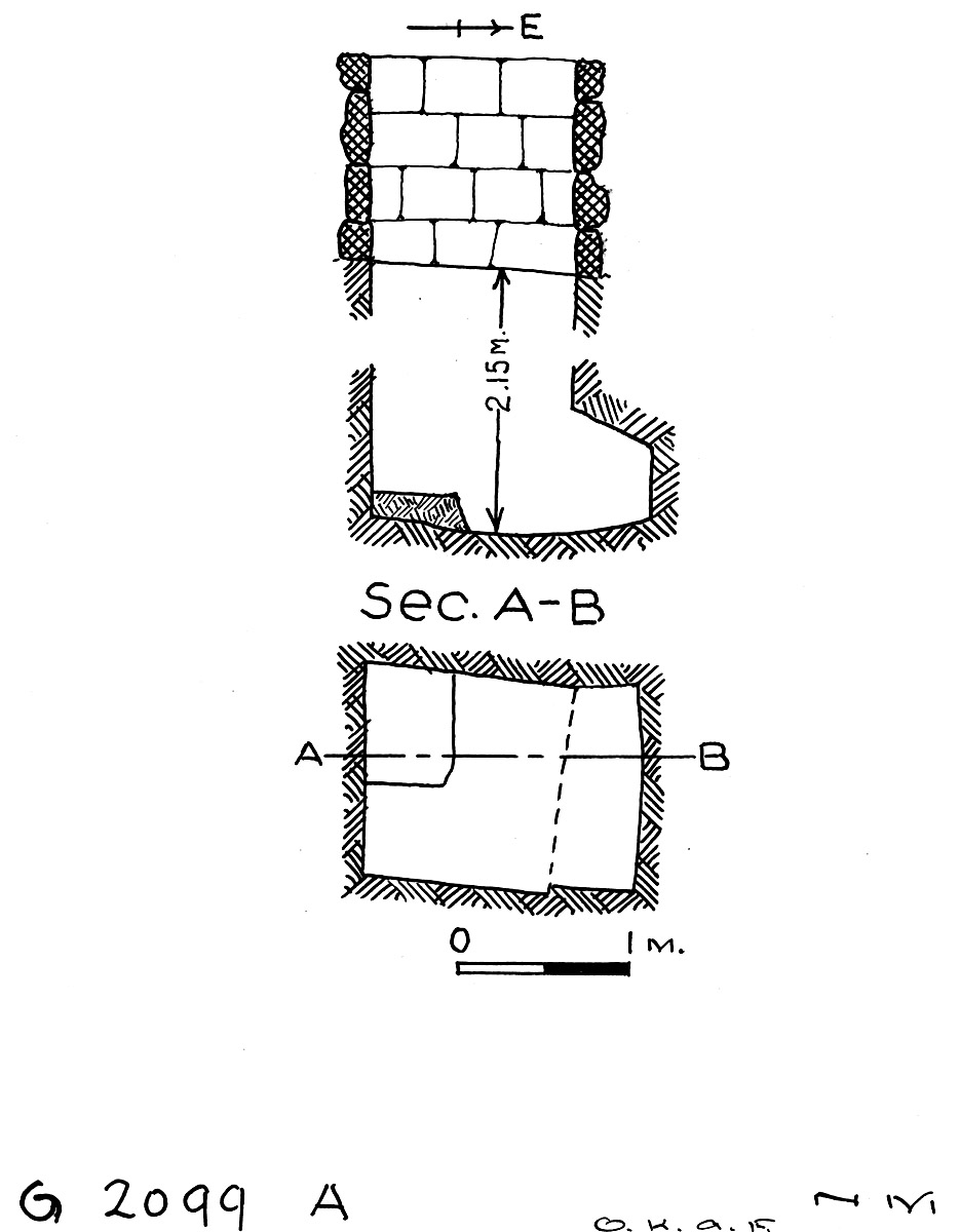 Maps and plans: G 2099, Shaft A