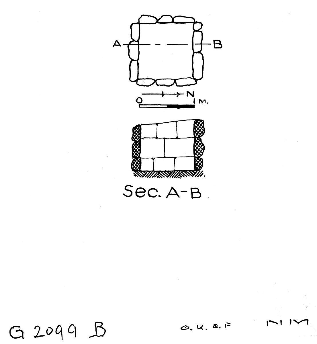 Maps and plans: G 2099, Shaft B