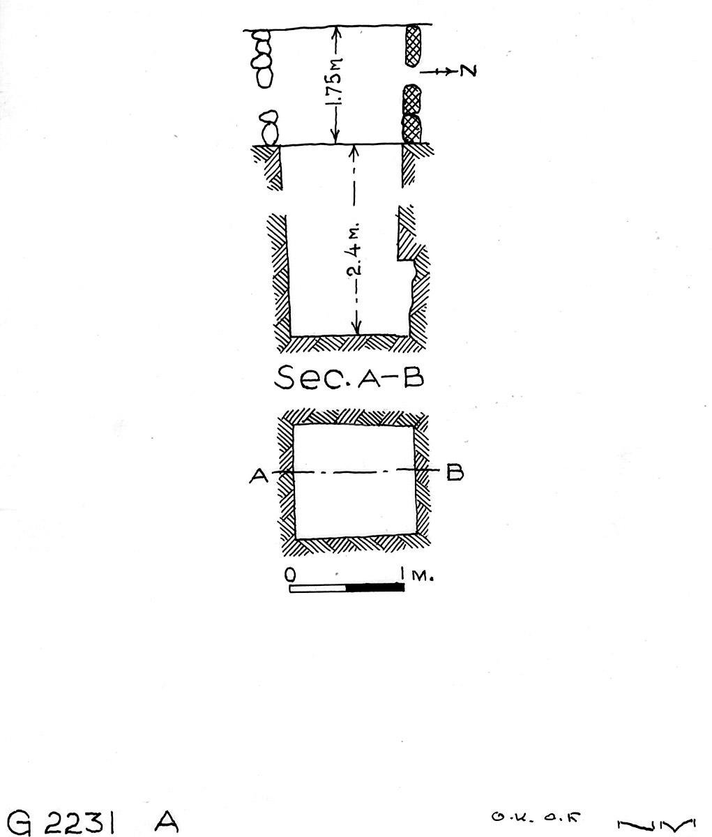 Maps and plans: G 2230+2231: G 2231, Shaft A