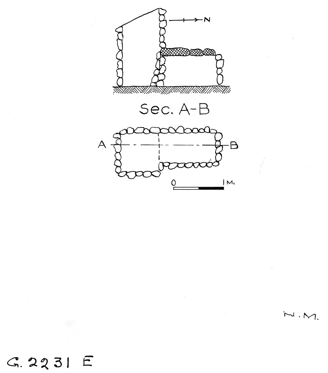 Maps and plans: G 2230+2231: G 2231, Shaft E