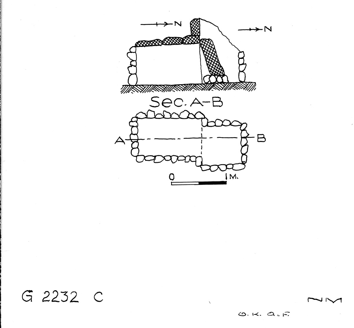 Maps and plans: G 2232, Shaft C