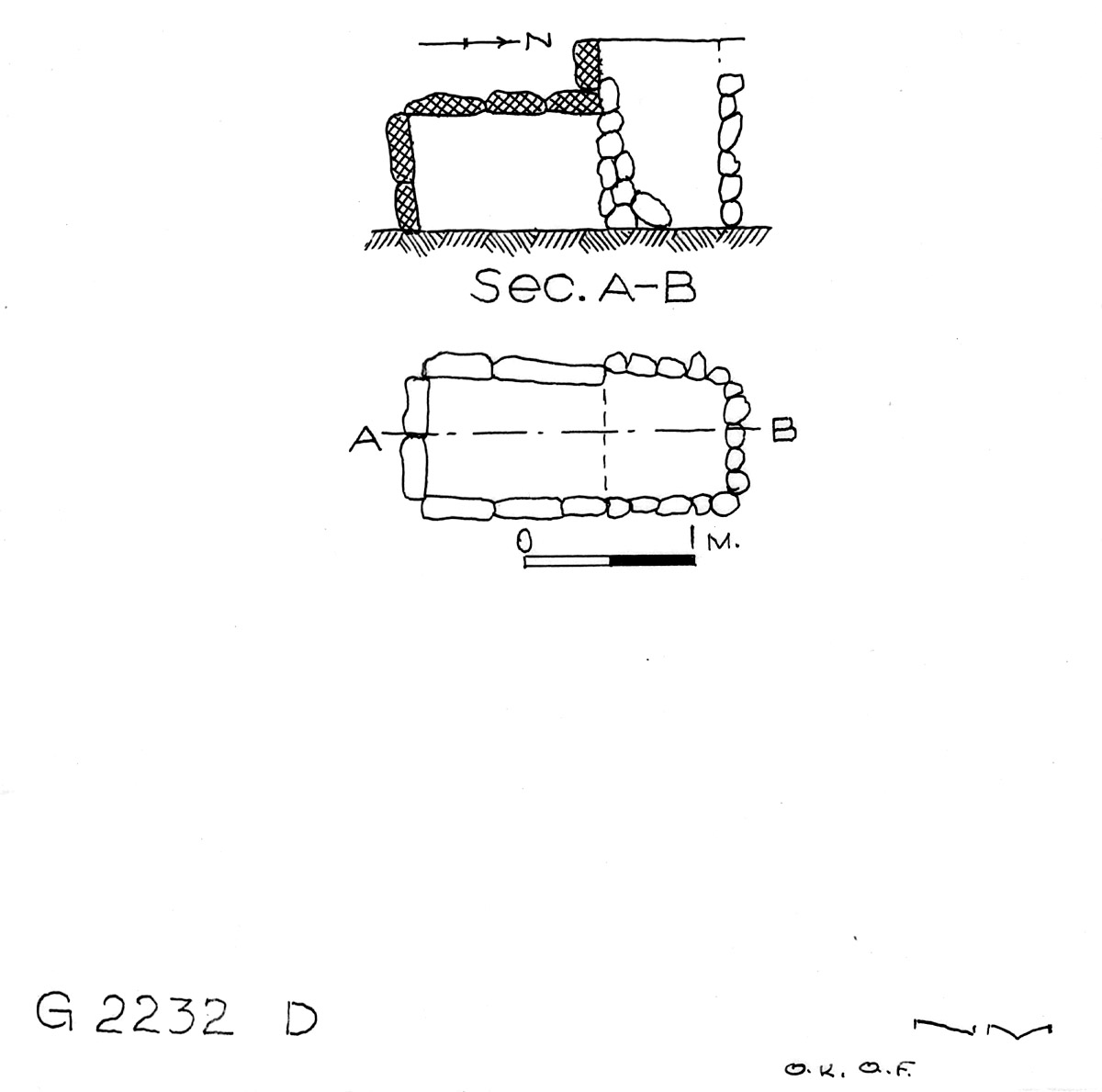 Maps and plans: G 2232, Shaft D