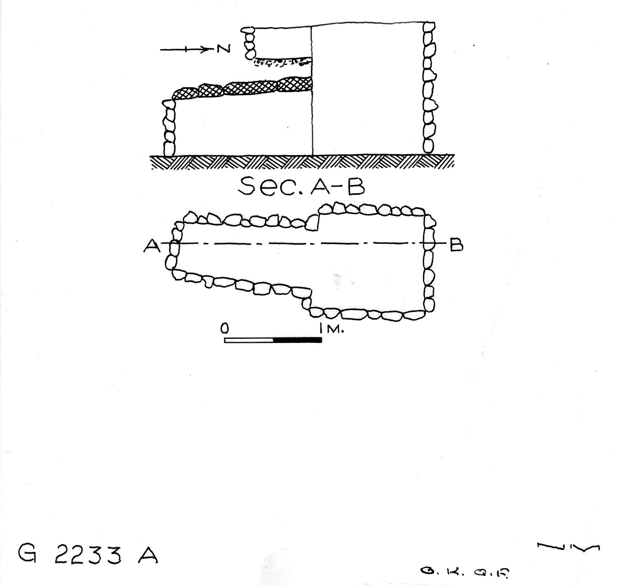 Maps and plans: G 2233, Shaft A