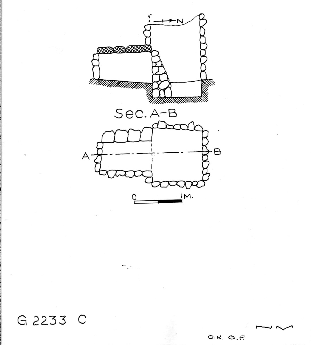 Maps and plans: G 2233, Shaft C