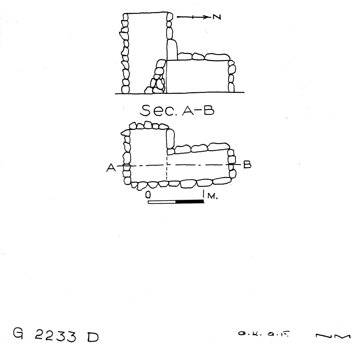 Maps and plans: G 2233, Shaft D