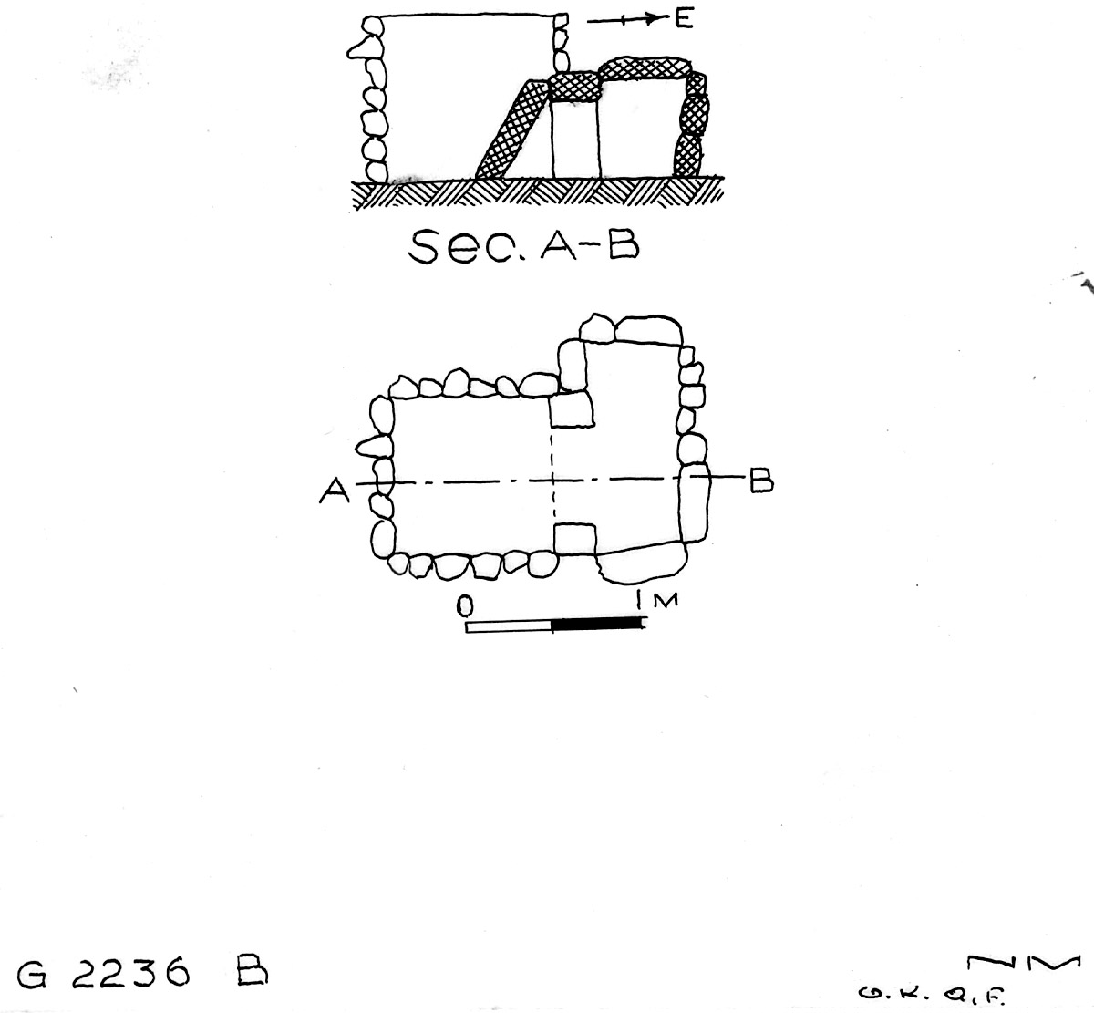 Maps and plans: G 2236, Shaft B