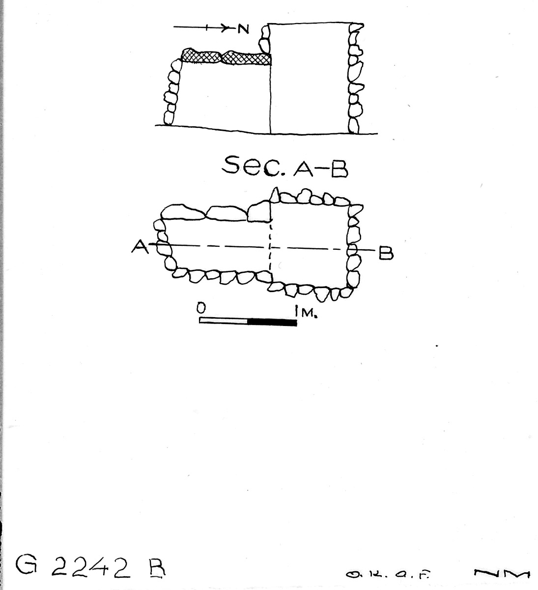 Maps and plans: G 2242, Shaft B