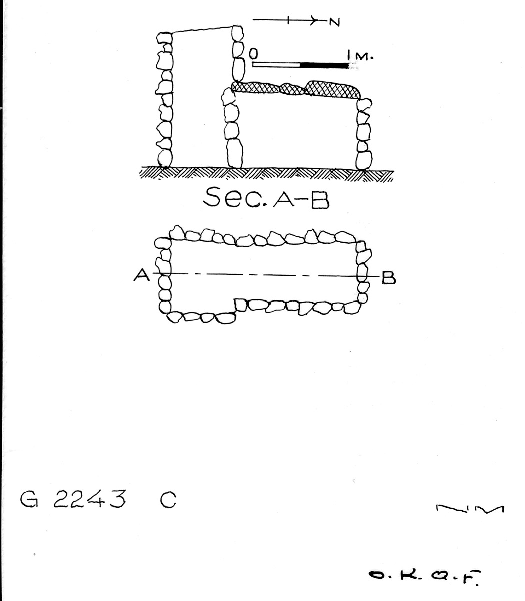 Maps and plans: G 2243, Shaft C