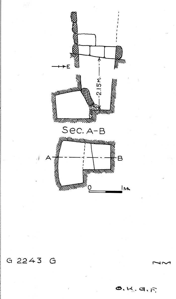 Maps and plans: G 2243, Shaft G