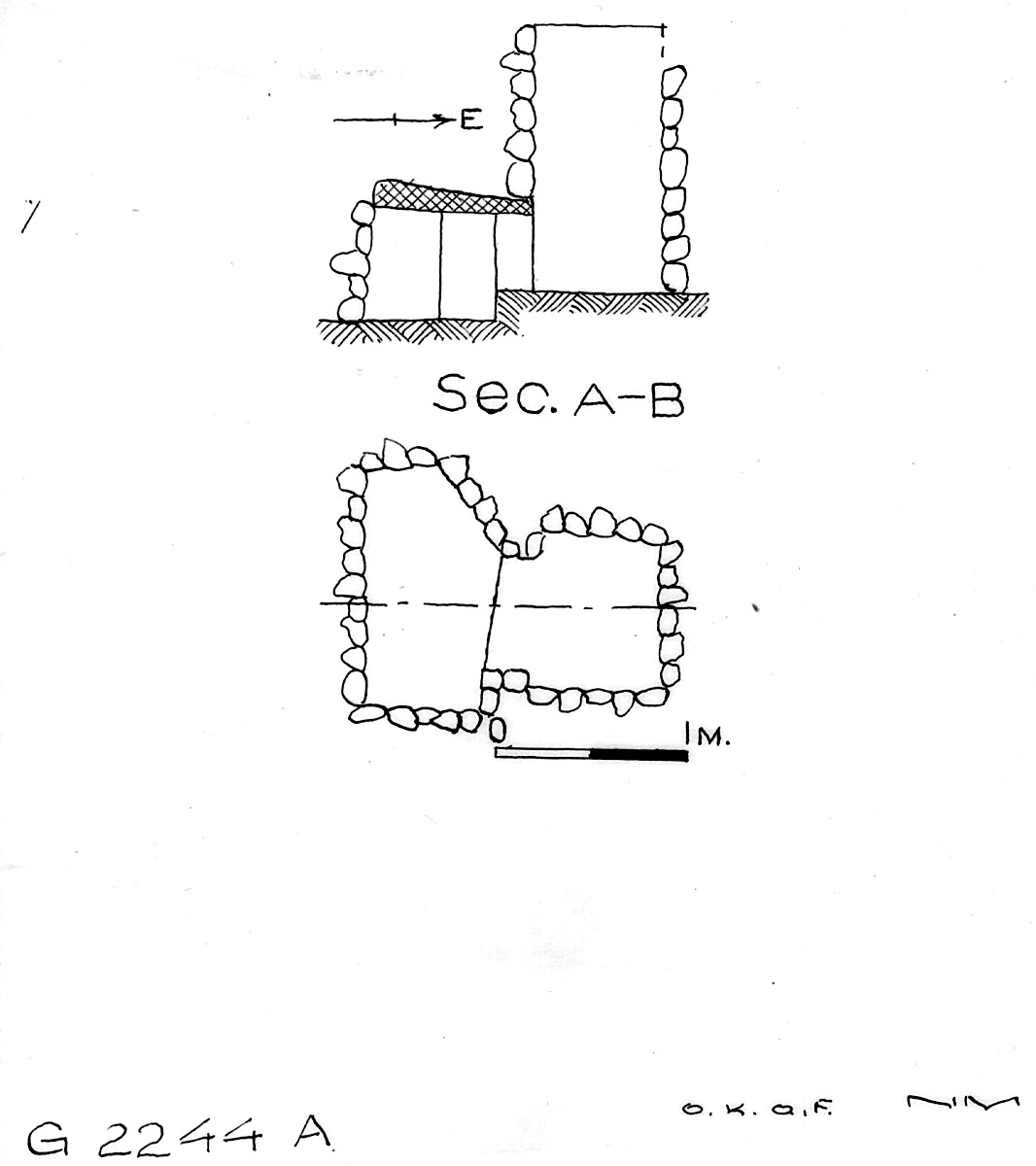 Maps and plans: G 2244, Shaft A