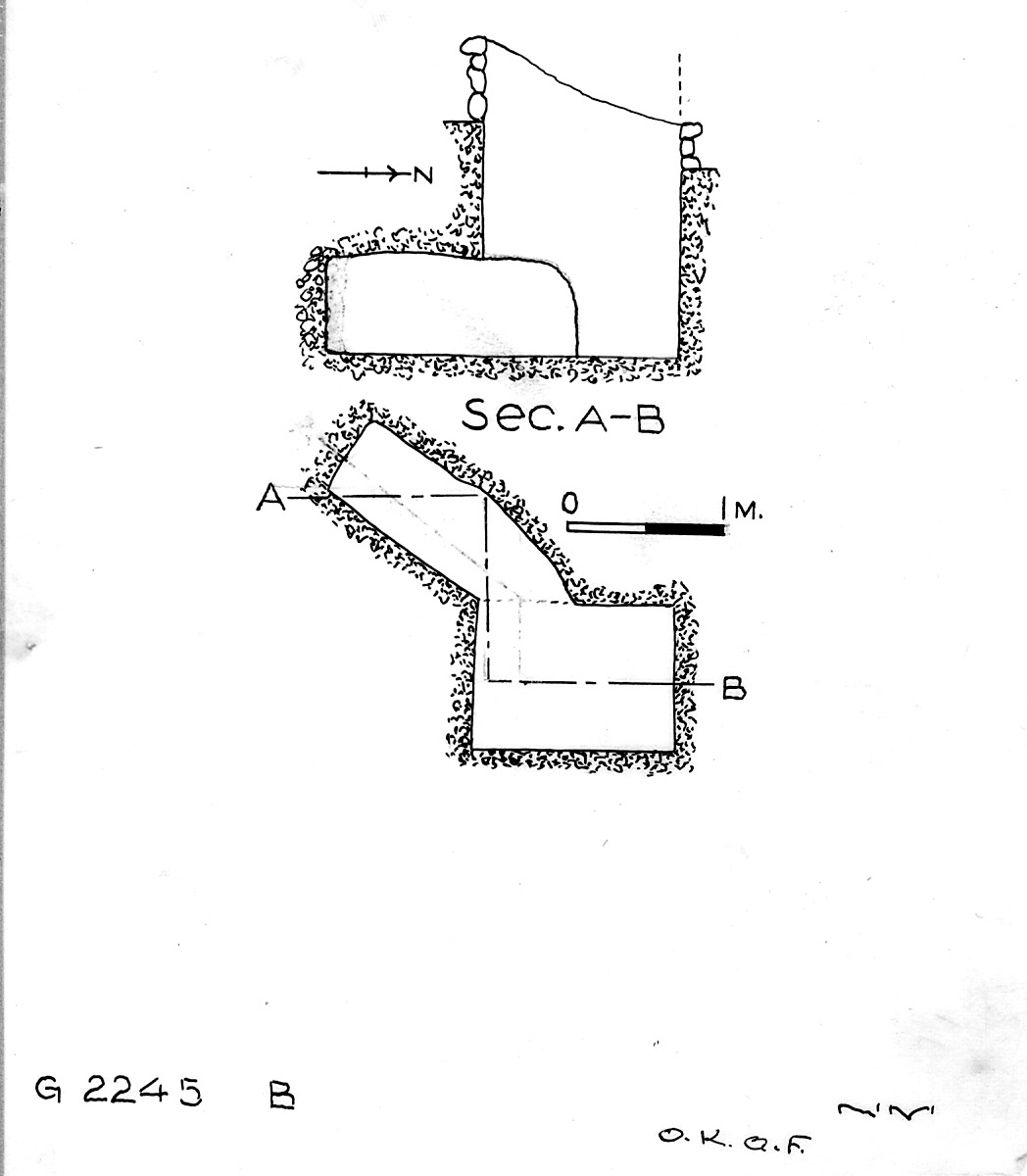 Maps and plans: G 2245, Shaft B