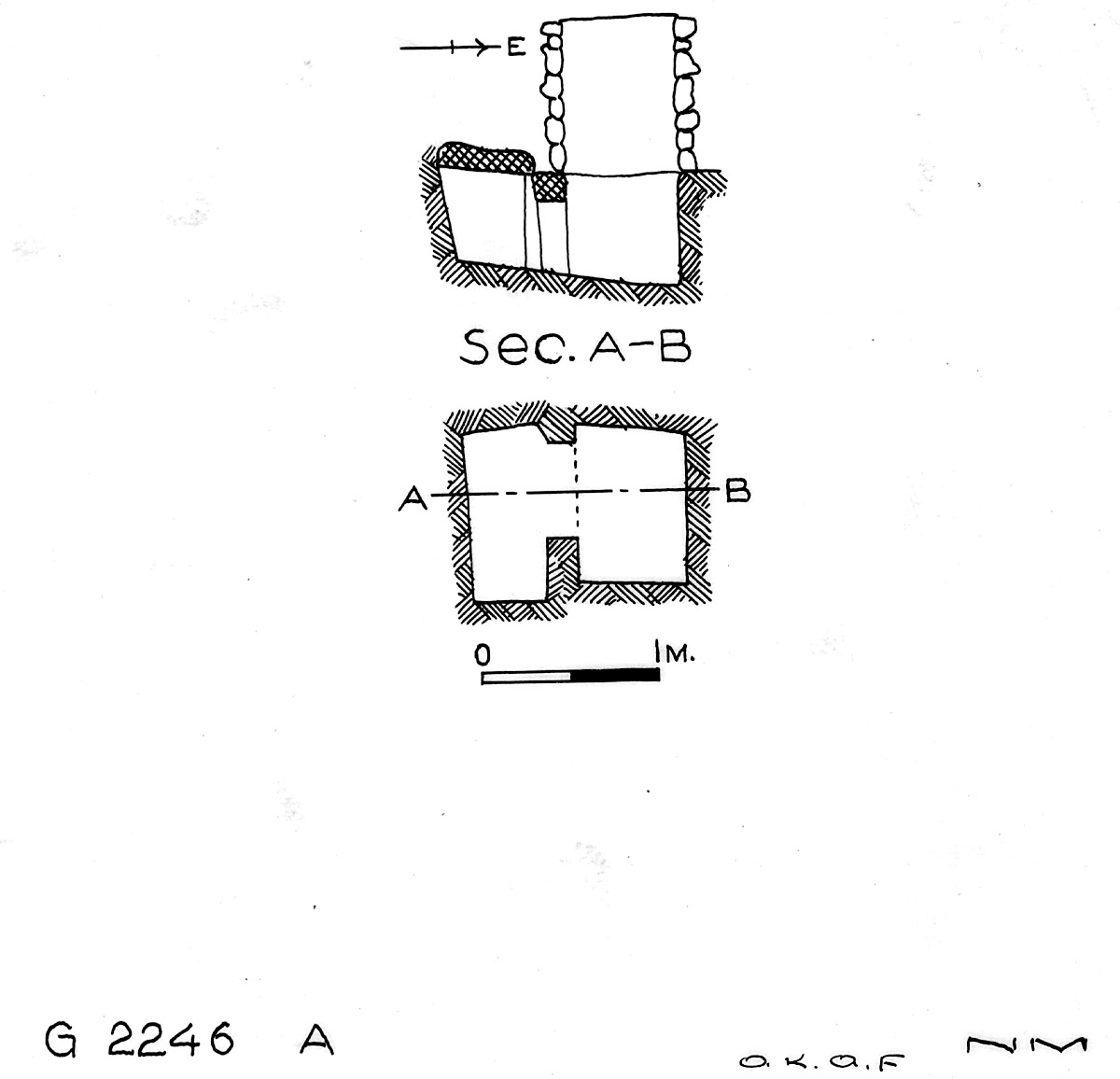 Maps and plans: G 2246, Shaft A