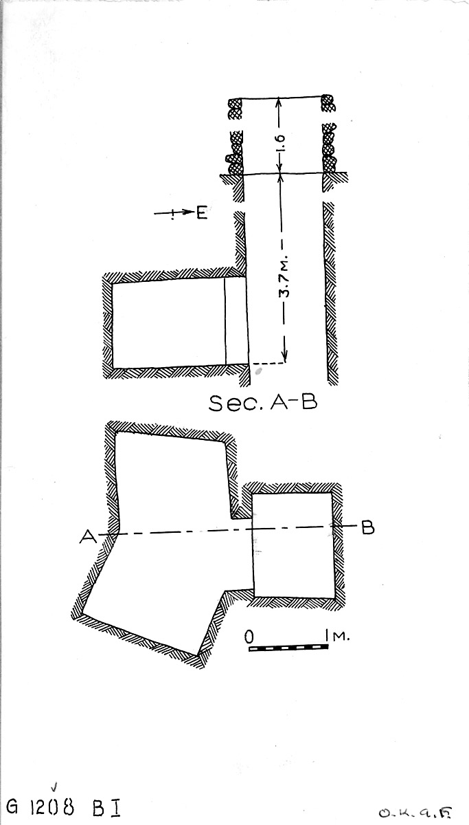 Maps and plans: G 1208, Shaft B (I)