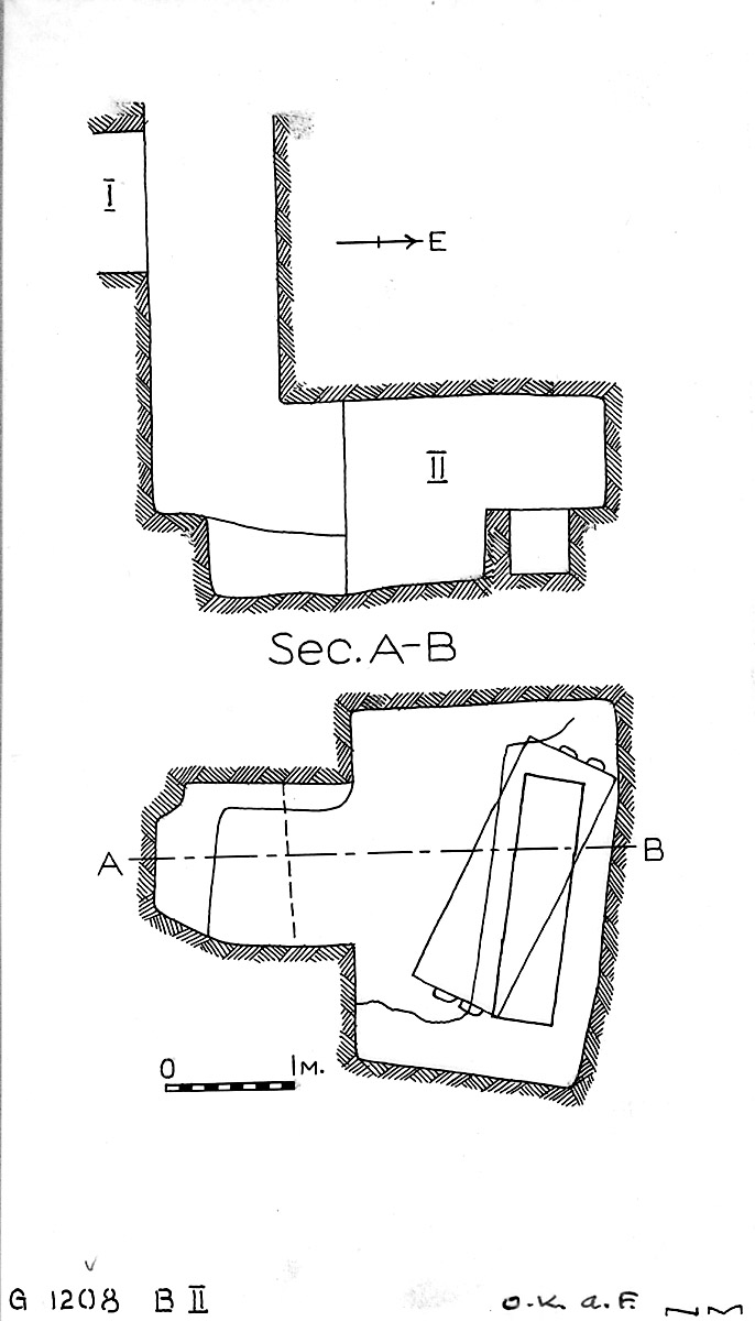 Maps and plans: G 1208, Shaft B (II)